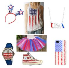 """""""USA pride"""" by abbyhoobler on Polyvore featuring Casetify, Converse and Boum"""