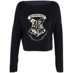 Harry Potter Hogwarts Logo Draco Dormiens Nunquam Titillandus print... (925 RUB) ❤ liked on Polyvore featuring tops, hoodies, sweatshirts, shirt crop top, cut-out crop tops, crop top, print crop tops and cotton sweatshirts