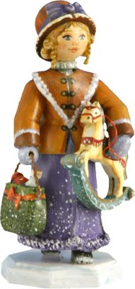 A Christmas Gift, Käthe Wohlfahrt. Crafted and handpainted wooden figure.
