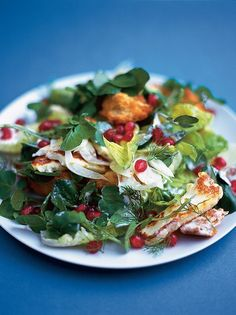 Winter salad - halloumi, pomegranate & fennel