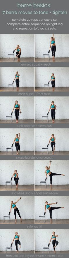 barre basics: 7 barre moves to tone + tighten | barre workout I toning workouts I at home workouts for women I barre I toning workouts for women II Nourish Move Love #homeworkouts #strengthtraining #workouts