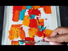 Very Easy Abstract painting / Palette knife and Acrylics / Demonstration Painting Lessons, Painting & Drawing, Diy Art Projects, Contemporary Abstract Art, Diy Canvas Art, Art Techniques, Palette Knife, Illustration, Art Paintings