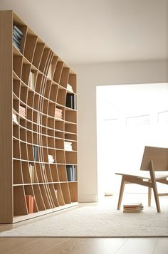 Simon Pengelly – 'Concave Bookcase' for Joined+Jointed