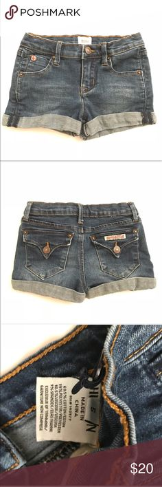 Hudson jeans girls shorts •Hudson Jeans denim cuffed shorts; baby girl designer jean shorts •Excellent used condition  •Size 5 •Made from 100% Cotton  •I am a: Posh Ambassador, top 10% seller, top rated seller, Posh mentor & ship same day/next day!  ⭐️❤️FREE Matching hair accessory with purchase!❤️⭐️ •Comes from smoke & pet free home •Browse my closet for dozen of amazing designers such as.. tucker + Tate, Tea Collection, Mini Boden, UGG, GAP, Juicy Couture, Lululemon & many more! Baby girl…