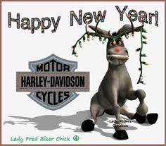 New Year Harley Davidson Quotes, Harley Davidson Tattoos, Happy New Year Hd, Happy New Years Eve, Hd Motorcycles, Harley Davidson Motorcycles, Lowrider Art, Bike Quotes, Harley Davison