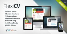 FlexiCV - Responsive WP vCard (Multipurpose) by uouapps FlexiCV is a responsive Wordpress vCard that is ideal for an optimized presentation & illustration of your skills & competencies r
