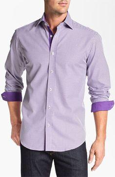 Bugatchi Uomo Shaped Fit Sport Shirt | Nordstrom