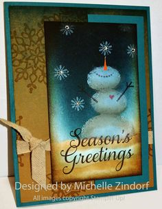 stampin up christmas card | Loving the Snow – Stampin' Up! Card |