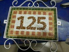 Número residência mosaico