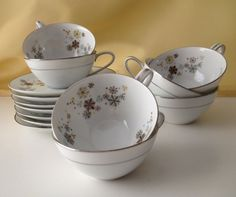 Vintage Atomic Teacups are Corinth by Noritake by BarbeeVintage, $48.00