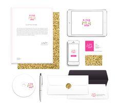 Pink Gold Logo Branding
