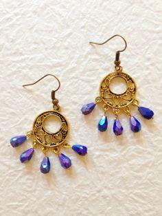 A personal favorite from my Etsy shop https://www.etsy.com/listing/234511520/blue-earrings-bohemian-earrings-dangle