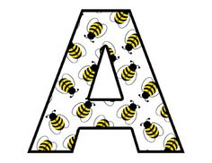 Bee Alphabet Digital Graphics Clip Art . Scrapbook Letters Embellishments and Scrapbooking Elements - Instant Download #decampstudios