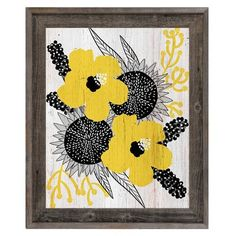 "Click Wall Art Blossoms Framed Graphic Art on Canvas Size: 27.5"" H x 23.5"" W x 1"" D"