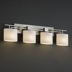LightingShowroom.com: Fusion Aero Brushed Nickel Bathroom Light, $568.00