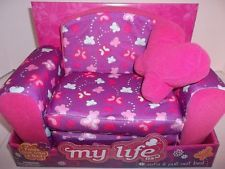 """My Life Doll Accessories as a Sofa Chair and Pull-Out Bed for 18"""" Doll New"""