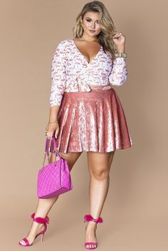 Shaina Skirt- Iced Pink
