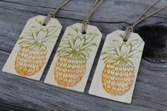 Set of 10 Pineapple Wood Tags Wedding Wish Tree by CrimsonHollow Caneel Bay, Wood Tags, Wedding Wishes, Pineapple, Unique Jewelry, Handmade Gifts, Etsy, Kid Craft Gifts, Wedding Favours
