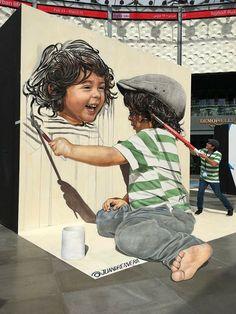 Work in Dubai by Juandrés Vera. Creati… – Graffiti World Murals Street Art, 3d Street Art, Amazing Street Art, Art Mural, Mural Painting, Street Art Graffiti, Street Artists, Art Paintings, Wall Murals