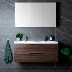 Lind luxury 120 sort baderomsmøbel m/enkel servant mod. Work Surface, Modern Kitchen Design, Sorting, Double Vanity, The 100, Sweet Home, Industrial, Bathroom, Luxury