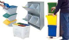 Reciclar basura en casa original contenedor con cubos de - Cubos para reciclar ...