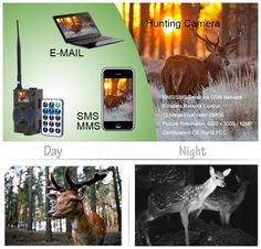 72.00$  Buy here - http://aiinz.worlditems.win/all/product.php?id=32798871505 - Night vision 16MP GSM MMS wireless digital game hunting camera HC350M