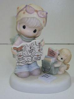 Map A Route Toward Loving Caring and Sharing 2005 Precious Moments Collectors Club Symbol of Membership New in box Precious Moments Figurines, Carthage, Find Color, House Mouse, Willow Tree, Beautiful Family, Coloring Pages, Kittens, Angels