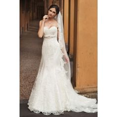 Exclusive Tulle A-line Sweetheart Spring Long Sleeve Lace Natural Ivory Wedding Dresses