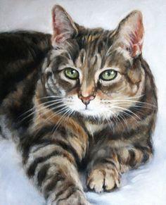 Custom Pet Portrait, Pet Oil Painting, 8x10, Animal Painting, Custom Cat Portrait