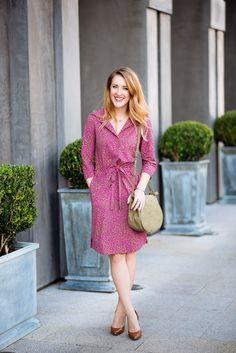 Effortless work attire-- fun and functional! #WrapDress #WomensFashion #Style