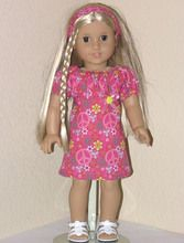 American Girl 18 inch doll Julie is modeling a handmade DRESS and HEADBAND made especially for her. Description from exclusivelylindadollclothes.com. I searched for this on bing.com/images