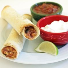 Bean and Cheese Taquitos: an easy, vegetarian, Mexican food.