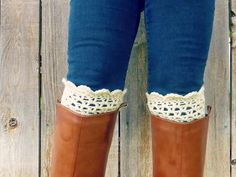 Lacy Scalloped Boot Cuffs