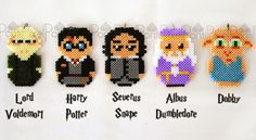 Harry Potter characters hama beads by PontiPixel