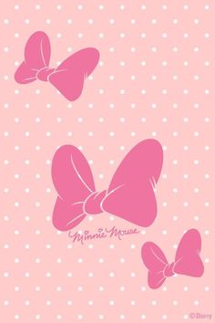 Minnie Mouses Bow Ribbon Wall Paper