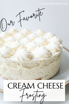 Our easiest and most delicious Cream Cheese Frosting and a favorite for cakes, cupcakes, and even cake pops! This is enough frosting to cover a three-layer 9-inch round cake or a total of six cups. Best Dessert Recipes, Fun Desserts, Cake Recipes, Beef Recipes Kid Friendly, Ice Cream Cupcakes, One Pan Meals, Round Cakes, Cream Cheese Frosting, Dairy Free Recipes
