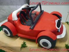 3D car cake tutorial