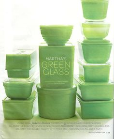 Green Dishes <3