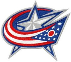 Columbus Blue Jackets logo machine embroidery design $7 embroideres.com