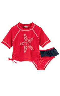 Le Top 'Seashore' SPF Protection 2 Piece Starfish Swimsuit
