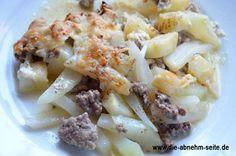 Ein Low Carb Auflauf für die ganze Familie wahlweise auch mit Kartoffeln, die einfach als Salzkartoffeln dazu kochen. #allgemein #diät #kohlrabi