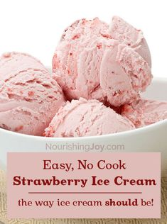 Strawberry Ice Cream - super-quick, super-easy, super-delicious, super-nourishing, AND super-refreshing - what's not to love??? :)