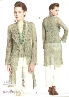 Patron # 1632: Crocheted Jacket