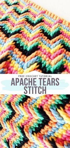 How to Crochet Apache Tears Stitch Apache Tears Stitch Free Tutorial Super playful, extremely eye-catching and not that hard to learn, Crochet Cat Pattern, Crochet Stitches Patterns, Crochet Chart, Free Crochet, Learn Crochet, Afghan Patterns, Cross Stitches, Mosaic Patterns, Loom Patterns