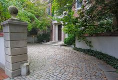 Beautiful cobblestone driveway we passed on one of our walks through the city of Providence.