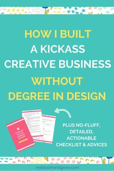 Kickstart your creative business even without degree in design, with these 6 steps. Plus, you'll get free kickstart your biz roadmap. - We Bloom and Grow Starting A Business, Business Planning, Business Tips, Business Management, Management Tips, Learning Resources, Blogging For Beginners, Pinterest Marketing, Blog Tips