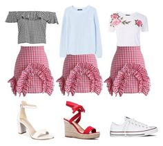 """H"" by a-sol90 on Polyvore featuring мода, Topshop, Chicwish, Boohoo, MANGO, Kenneth Cole, Converse и JustFab"