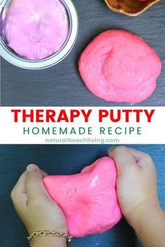Ready to Make Homemade Putty, Thinking slime, therapy putty, stress putty, or slime! Our homemade stress putty recipe is super easy and fun to make. Keep those little fingers busy with this sensory recipe and see HOW TO MAKE PUTTY FOR KIDS! Homemade Putty, Homemade Playdough, Preschool Learning Activities, Playdough Activities, How To Make Putty, Silly Putty Recipe, Therapy Putty, Discovery Bottles, Sensory Bottles