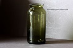 19th Century French Glass Truffle / Cornichon Preserving Jar - Antique Pickling Jar