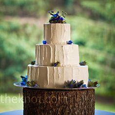 Blue Wildflower Cake